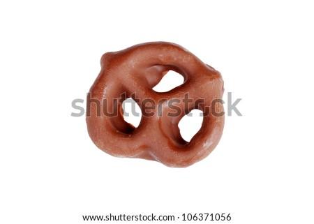 Chocolate covered pretzel - stock photo