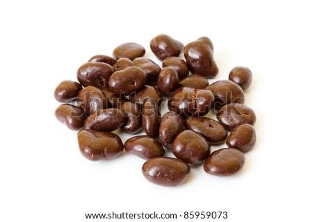 chocolate covered raisins - stock photo