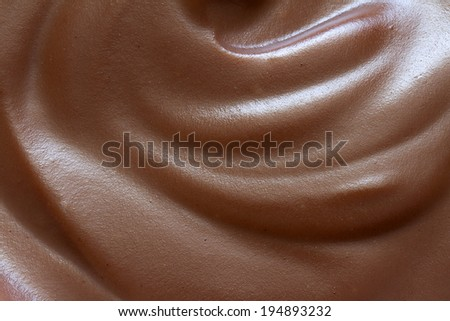 Chocolate cream closeup background texture - stock photo