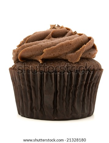chocolate cupcake - stock photo