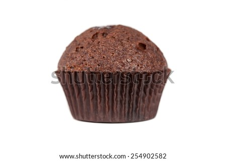 chocolate cupcakes muffin - stock photo