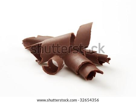 Chocolate curls - stock photo
