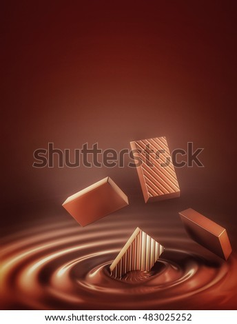Chocolate 3D Illustration
