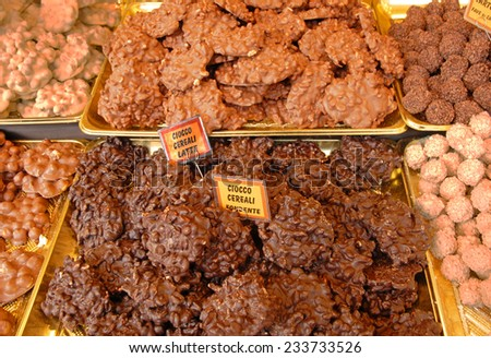 Chocolate delicatessen. - stock photo