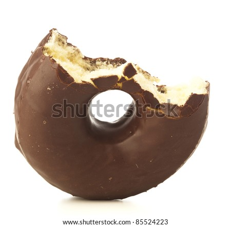 chocolate donut on a white background