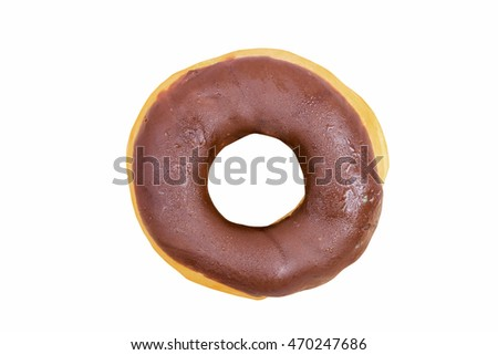 Chocolate donuts isolated,with clipping path