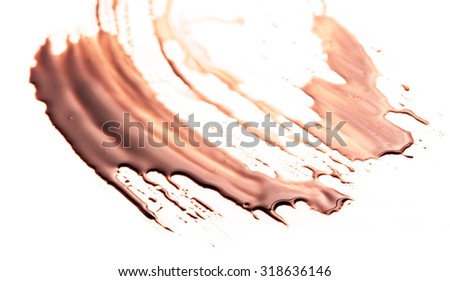chocolate drop on a white background
