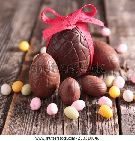 chocolate easter egg - stock photo