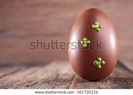 chocolate easter egg - stock photo