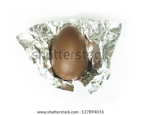 Chocolate Easter Egg in pack - stock photo