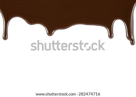 chocolate falling from above