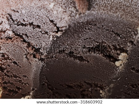 Chocolate flavor ice cream backgrounds and textures - stock photo