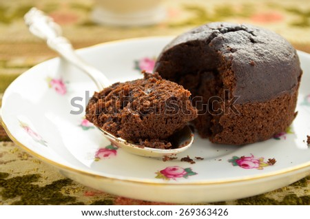 chocolate fondant - stock photo