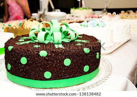 Chocolate green cake - stock photo