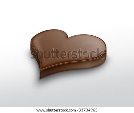 Chocolate heart - stock photo