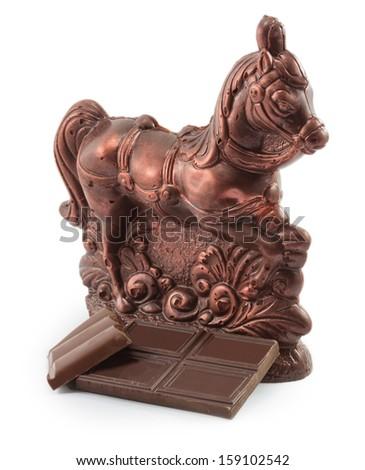 chocolate horse isolated on a white background