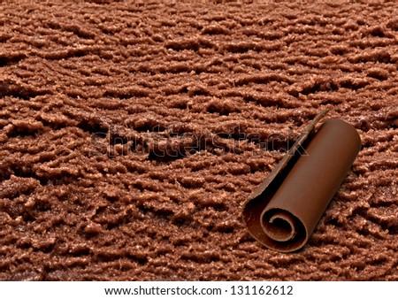 Chocolate ice cream with curl - stock photo
