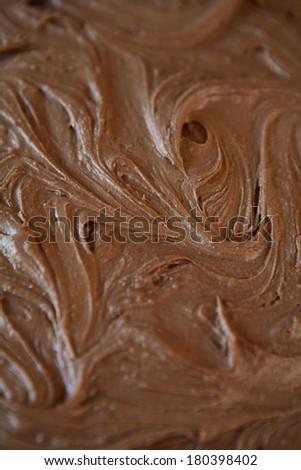 chocolate icing  - stock photo