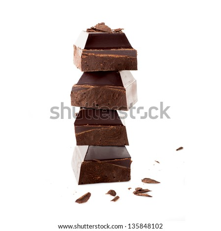 Chocolate isolated on white background