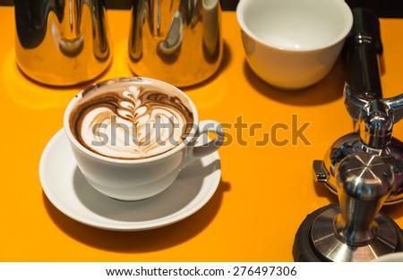 chocolate latte - stock photo