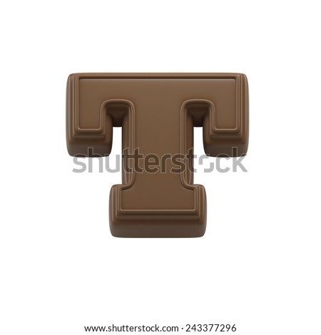 Chocolate Letter E Sweet Candy Font Stock Illustration
