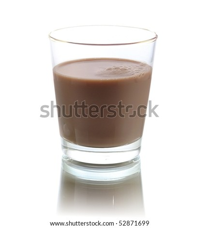 chocolate milk - stock photo