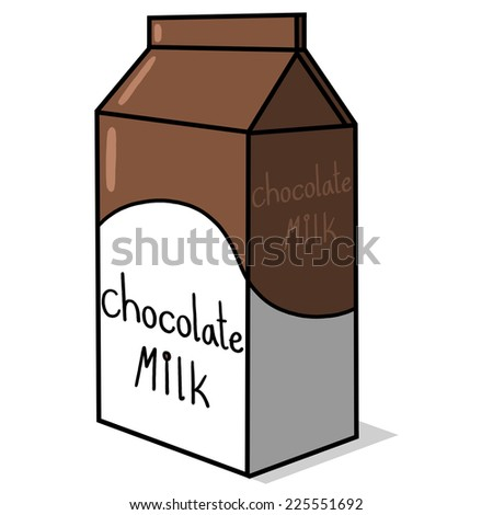 Chocolate Milk Carton Illustration - stock photo