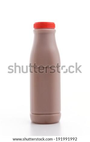 Chocolate milk isolated white background - stock photo