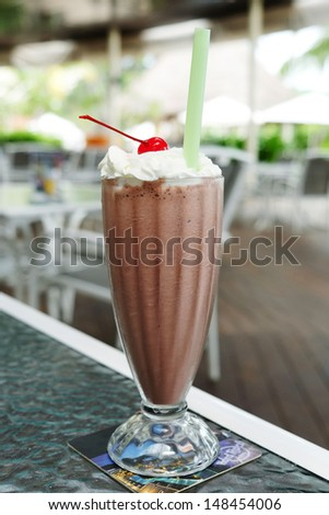 Chocolate Milk Shakes - stock photo