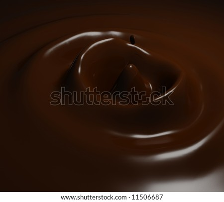 Chocolate milk splash brown background
