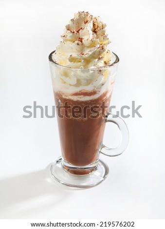 chocolate milkshake - stock photo