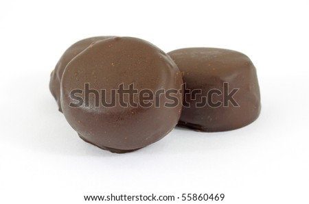 Chocolate mints - stock photo