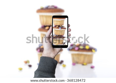 Chocolate muffin. Group of chocolate muffin.  - stock photo