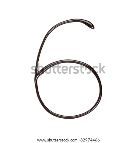 Chocolate Number 6 - stock photo