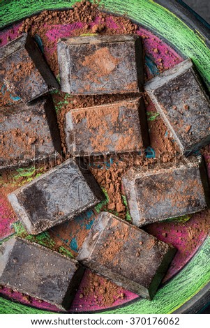 Chocolate of Modica, sicilian specialty - stock photo