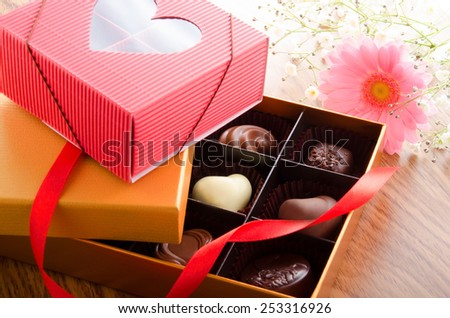 Chocolate of Valentine's Day - stock photo