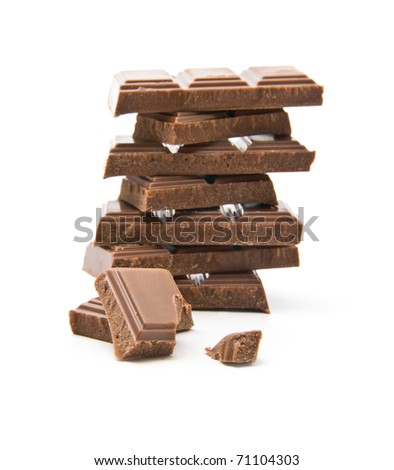 chocolate on a white background