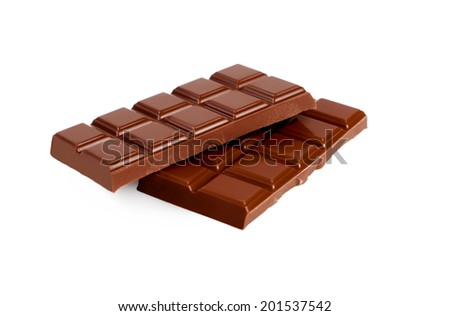 Chocolate on white background. Candy.