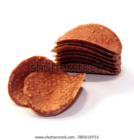 Chocolate petals - stock photo