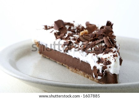 Chocolate pie - stock photo