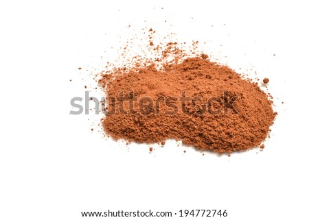 chocolate powder - stock photo