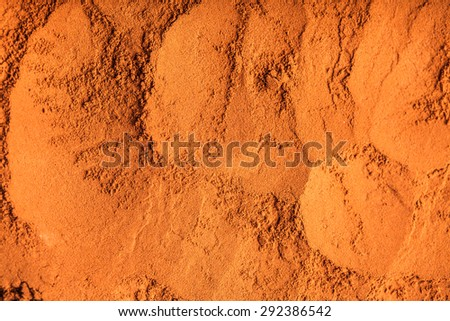 chocolate powder close up as a background - stock photo