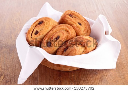 chocolate puff pastry - stock photo