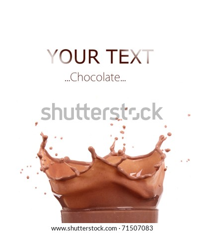 Chocolate splash - stock photo