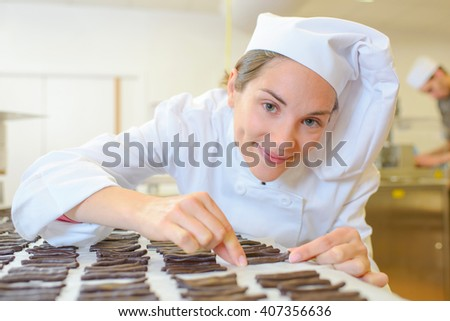 chocolate sticks - stock photo