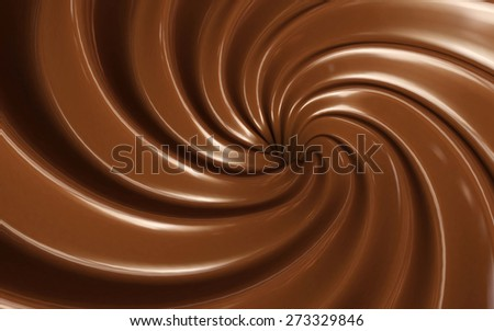 Chocolate swirl background - stock photo