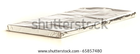 chocolate tablet isolated on a white background