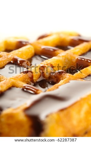 chocolate waffle - stock photo