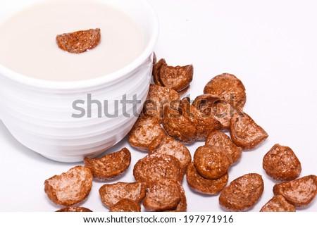 chocolate with milk - stock photo