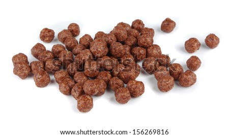 Chocolatel balls on a white background - stock photo